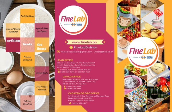OUTSIDE OF FINELAB TRI-FOLD BROCHURE